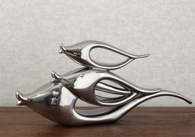 【装饰品】抽象小鱼组合动物工艺品