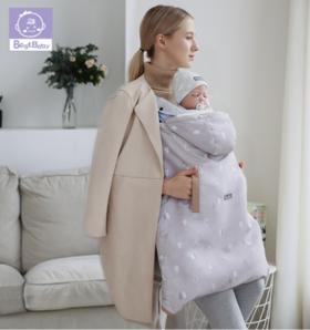 【婴儿用品】婴幼儿背带披风抱被宝宝秋冬季加厚防风保暖抱毯婴儿两件套睡袋