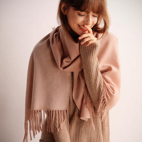 Aoscwald·双面羊绒围巾| 【下单即赠价值49元的羊毛袜一双】内蒙古天然羊绒,温柔软糯,百搭有格调