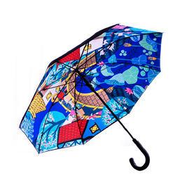 金山农民画长柄伞三折伞