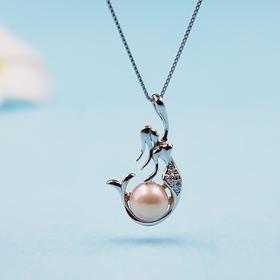 【虞美人】天然淡水珍珠吊坠(赠银链)