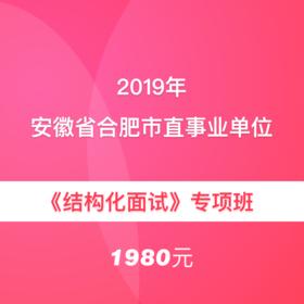 2019年安徽省合肥市直事業單位《結構化面試》專項班