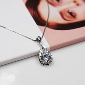 【八心八箭】天使之翼*s925银镶嵌锆石吊坠(赠银链)