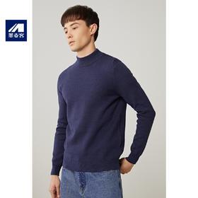 墨麦客男装2019冬季新款加厚半高领毛衣男士中领针织打底衫潮3421