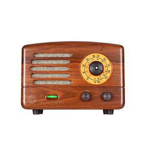 猫王典藏复古原木质收音机音箱
