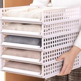 H&3 5层家用懒人叠衣板折叠衣服神器抽屉式衣柜收纳分层隔板置物架