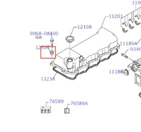 发动机螺栓减震胶垫SK200/210/250/260/270