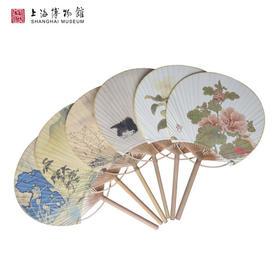 上海博物馆 缂丝莲塘乳鸭图 山茶蝴蝶图页团扇 宫廷复古女士扇子