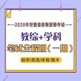 2020年 安徽省 教育綜合知識+學科知識數/英/體/美 筆試全程班(一期)