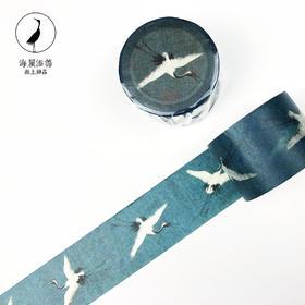 【海屋添筹】宋徽宗赵佶 瑞鹤图 仙鹤和纸胶带贴纸文创中国风