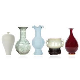 五大名窑瓷器(汝窑瓷、官窑瓷、哥窑瓷、钧窑瓷、定窑瓷)
