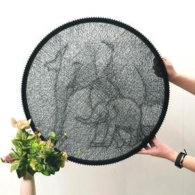 琥珀线绳画——象好而生