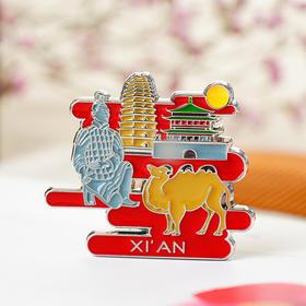 西博文创 西安印象 丝绸之路旅游纪念品兵马俑锌合金磁铁冰箱贴