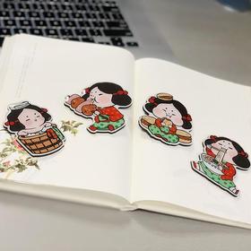西博文创 唐小西Q萌卡通滴胶冰箱贴 泡馍 烤肉 夹馍 旅游纪念伴手礼