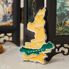 西安博物院文创 陕西版图旅游纪念品伴手礼地图锌合金冰箱贴磁铁