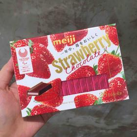 明治钢琴草莓巧克力|明治经典草莓夹心巧克力