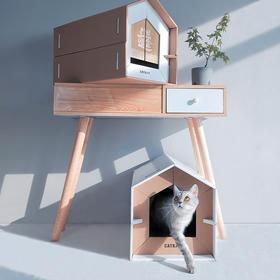 【送¥19元门帘2副】CATKIT拼版猫窝别墅 纸板猫窝耐磨猫爪磨爪器玩具纸屋