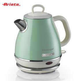 Ariete阿里亚特家用小容量1L款电热水壶(2868)绿色 自动不锈钢复古烧水