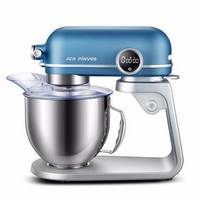 北美电器(ACA)厨师机和面机家用多功能全自动静音小型揉面机活面搅拌料理机打奶油蛋器大容量EC800 高贵蓝