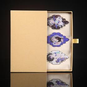 尚映龟兹古韵中国风流苏金属烤漆龟兹佛本生故事创意书签礼品包装