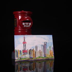 尚映游上海系列绘画高彩雅美纸明信片装饰卡片INS文艺贺卡可邮寄