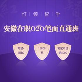 2020安徽省紅領智學在職O2O筆面直通班01期