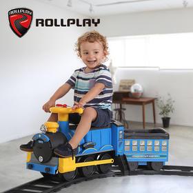 美国rollplay如雷儿童电动车可坐人宝宝轨道小火车婴儿可坐玩具车