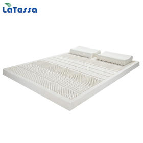 【买一送二】Lotosso-泰国天然乳胶七区按摩床垫 买床垫就送两花生枕