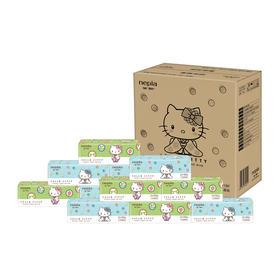 【京东】妮飘(nepia)抽纸  卡通系列凯蒂 2层 150抽软抽*18包纸巾 整箱销售【生活用品】