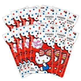 【京东】妮飘(nepia)湿巾纸巾卡通系列hello kitty凯蒂10抽/包*12包【日用家居】