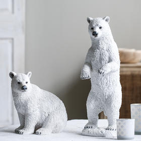 ins北欧小熊创意摆件 小清新北极熊装饰客厅卧室桌面摆设生日礼物