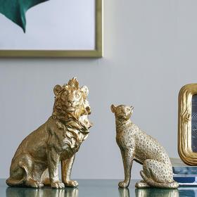 创意现代轻奢风动物摆件家居室内办公室ins可爱动物装饰品摆件