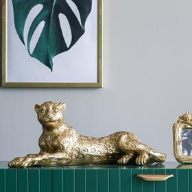 金钱豹工艺品创意摆件现代简约客厅家居桌面装饰ins乔迁新居礼品