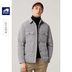 墨麦客男装2019冬季新款单排扣加厚羽绒服男士翻领夹克外套潮8828