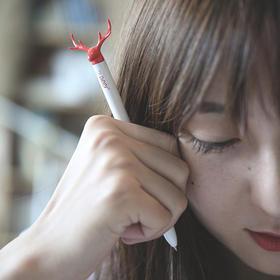 【为思礼】麋鹿中性笔 锌合金笔芯 不锈钢笔身 简约可爱创意好礼 可做生日礼物/圣诞礼物