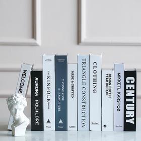 米子家居 欧式简约现代仿真书装饰书客厅卧室书房装饰品摆件假书