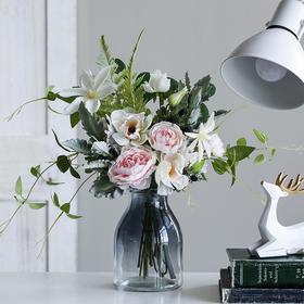 米子家居 北欧仿真花装饰花束餐桌家居装饰摆设假花花艺套装摆件