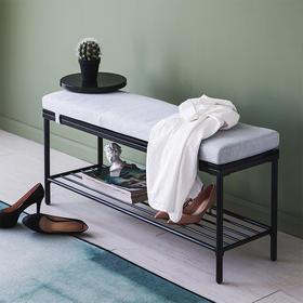 DF金属换鞋凳鞋柜家用门口北欧鞋凳式长凳进门可坐穿鞋凳长条凳