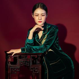凤鸾灵绣家居服 | 吉祥凤凰寓意美好,做优雅雍容的东方女人