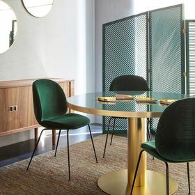 DF北欧餐椅甲壳虫椅餐厅现代简约化妆网红书桌轻奢椅子靠背家用