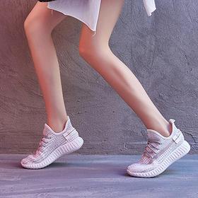 百搭潮椰子女鞋透气网面运动休闲   上脚透气更舒适,时尚百搭简约高颜值,多色可选