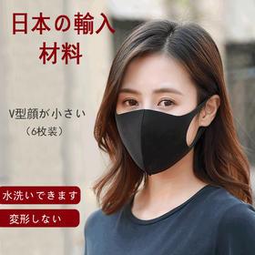 【日本防尘口罩 6只装】明星同款男女通用,防尘透气,隔离花粉,可水洗,V脸有型