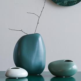 现代时尚小清新陶瓷椭圆花瓶客厅酒柜电视柜餐桌玄关装饰品摆件