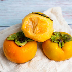 果肉嫩滑爽口陕西脆甜柿子 香甜可口 汁多味美 果肉鲜美 5斤 10斤装