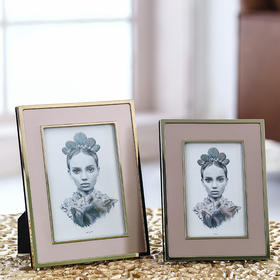 北欧轻奢风相框创意小清新家居照片框卧室梳妆台玄关装饰品摆件