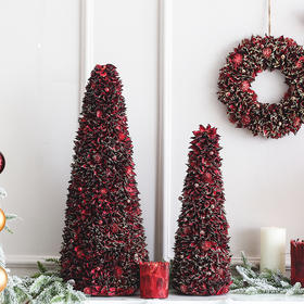 北欧风圣诞树圣诞花环客厅餐厅电视柜摆件创意家居饰品节日装饰品
