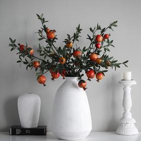 现代田园风仿真六头石榴果把束仿真水果居家室内装饰品桌面摆件