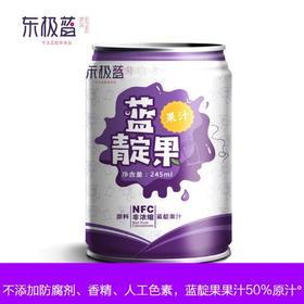 蓝靛果罐装非浓缩果汁245ml12罐箱