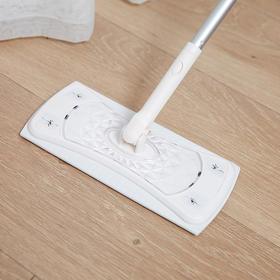懒人拖把4件套:懒人拖杆+地板擦+静电除尘纸+湿巾