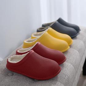 【预售中,2月2号恢复发货】防水保暖棉拖鞋,毛绒内里温暖舒适,自由出入厨房卫生间